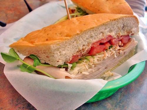 Turkey-Parmesan Sandwich on Focaccia