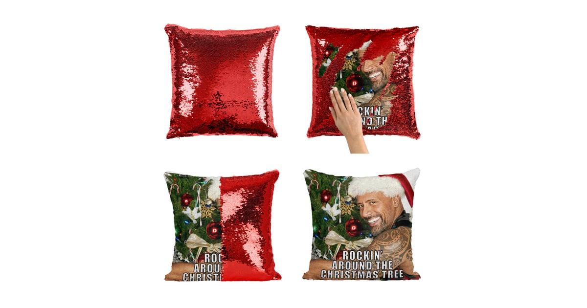 Dwayne Johnson Sequin Pillows