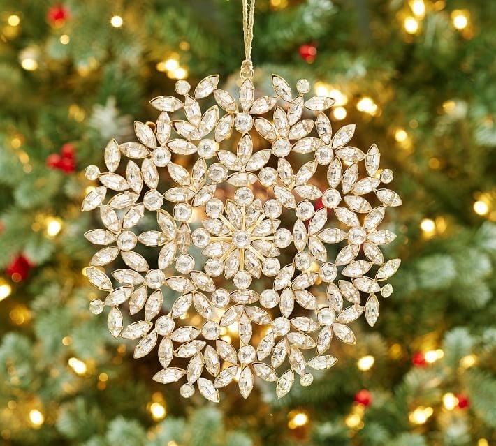 jeweled circle snowflake ornament - Jeweled Christmas Trees