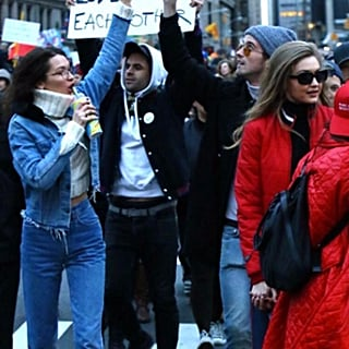 Bella and Gigi Hadid Demonstration in NYC 2017