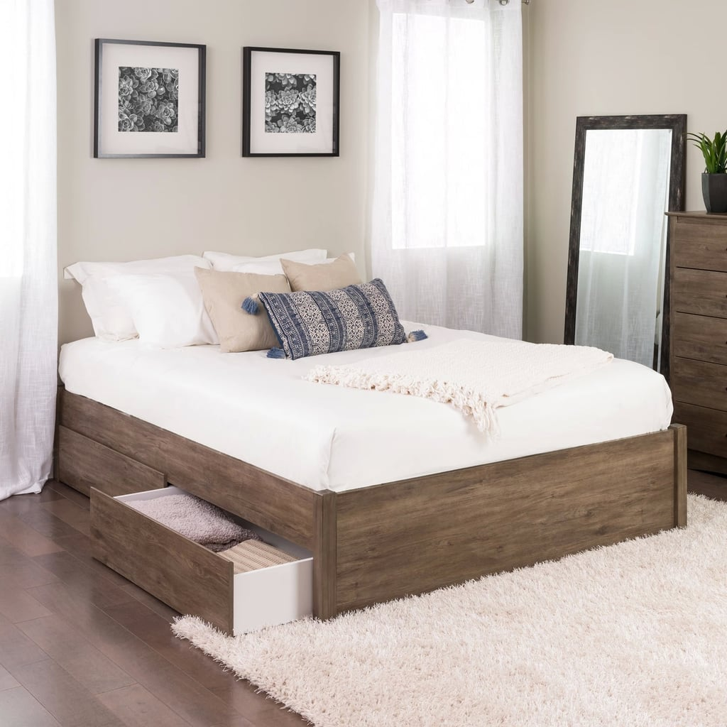 Post Platform Bed With Two Drawers | Best Target Bedroom ...