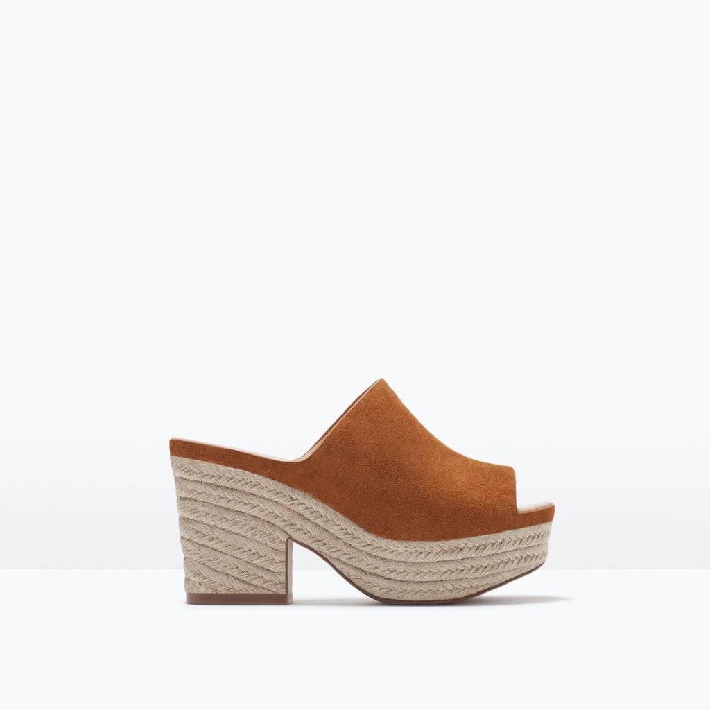 Zara Leather Wedge Shoe
