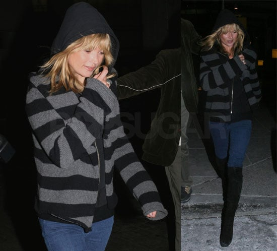 Kate Moss Flies Solo into NYC