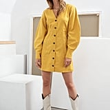 & Other Stories Tailored Puff Sleeve Mini Dress