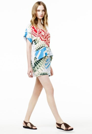 >> Beginning with the Resort 2012 season, Thakoon Panichgul is really blowing out his Thakoon Addition diffusion line. Which means: For starters, showing it separately than mainline Thakoon; and secondly, lowering the price point to the upper end of the contemporary market (Panichgul says he plans to continue filling out the collection with lower-priced items.). With the easy cuts and colorful prints, this new iteration of Addition could very well give Marc by Marc a run for its money.