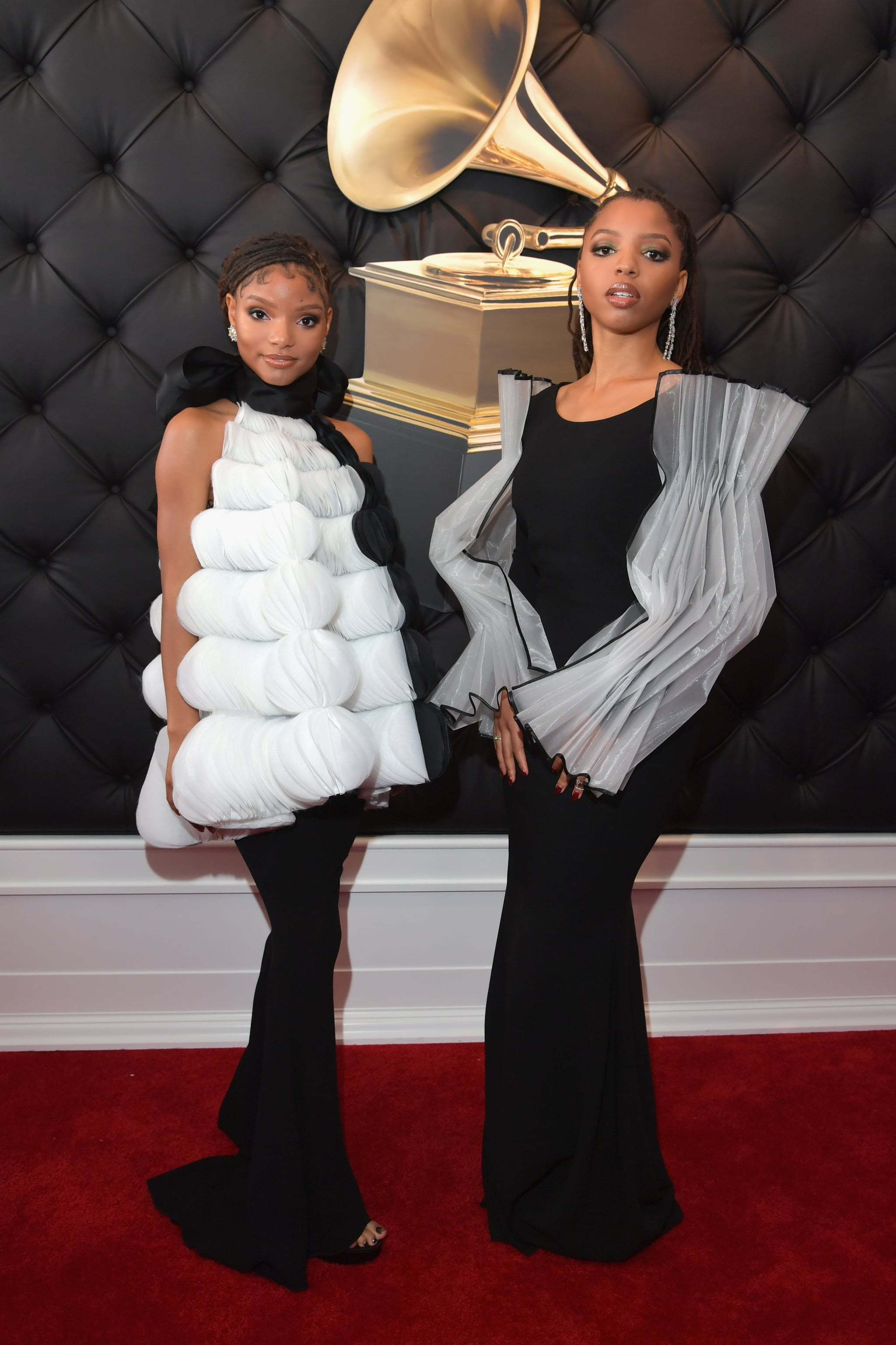 LOS ANGELES, CA - FEBRUARY 10:  Halle Bailey (L) and Chloe Bailey of Chloe X Halle attend the 61st Annual GRAMMY Awards at Staples Center on February 10, 2019 in Los Angeles, California.  (Photo by Lester Cohen/Getty Images for The Recording Academy)
