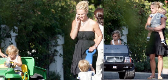 Photos of Britney Spears Sons Playing With Kingston Rossdale