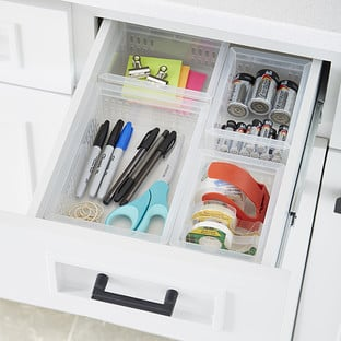 Clear Stackable Organizer Trays