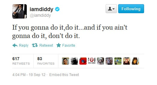 Diddy tries his hand at motivational speaking.