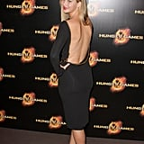 Jennifer Lawrence showed off her back in a Tom Ford dress at the Paris premiere of The Hunger Games in March.