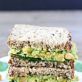 Smashed Chickpea, Avocado, and Pesto Sandwich