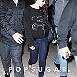 Kristen Stewart arrived in Paris for the first stop on her European press tour for Snow White and the Huntsman.
