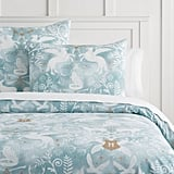 Harry Potter Patronus Damask Mystic Mint Duvet Cover