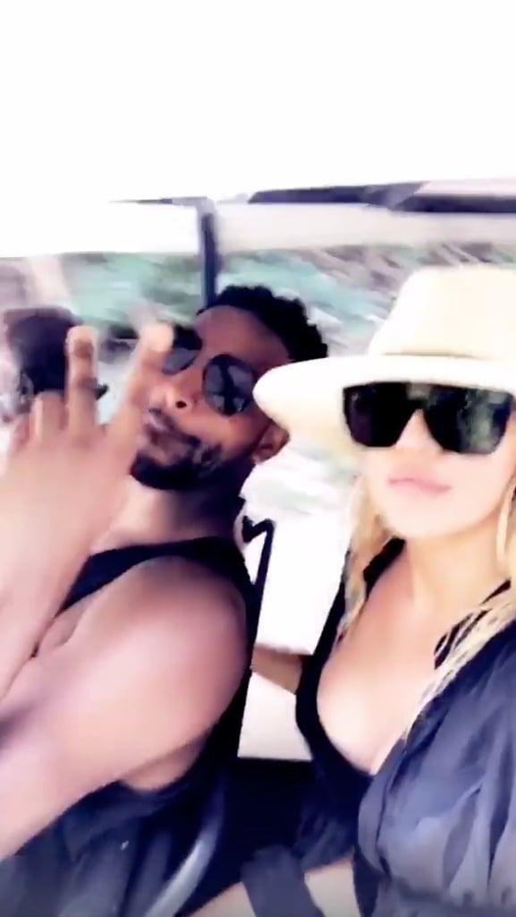 Khloé and Tristan Went For a Ride in a Golf Cart Together