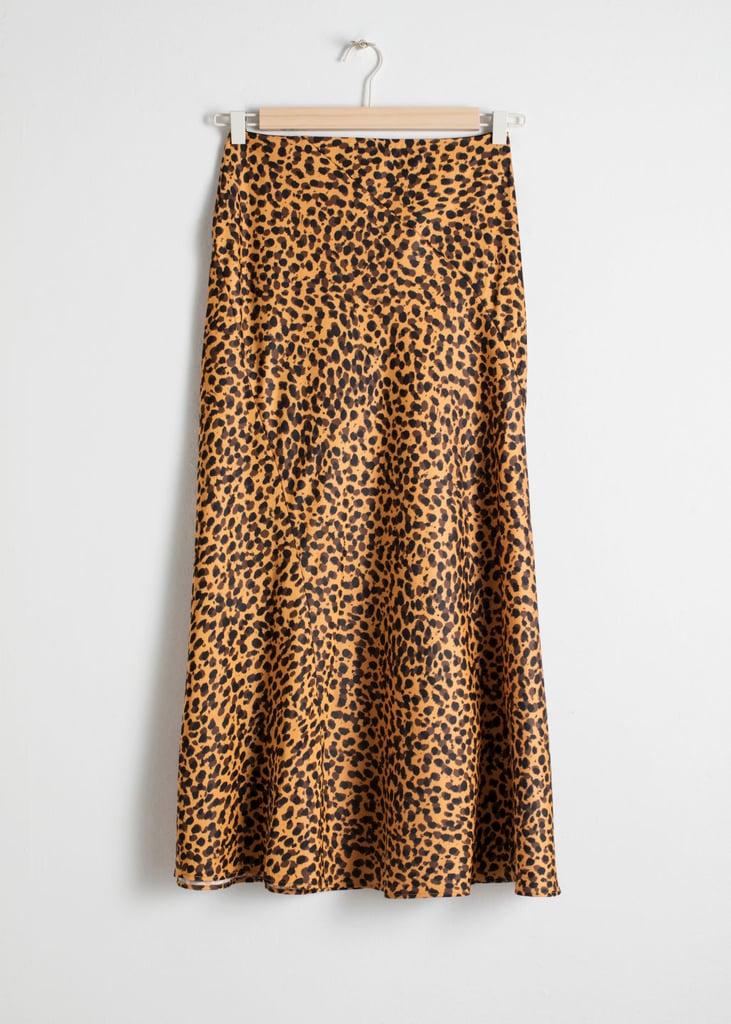 & Other Stories Leopard-Print Midi Skirt