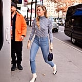 Miley Cyrus White Boots December 2018