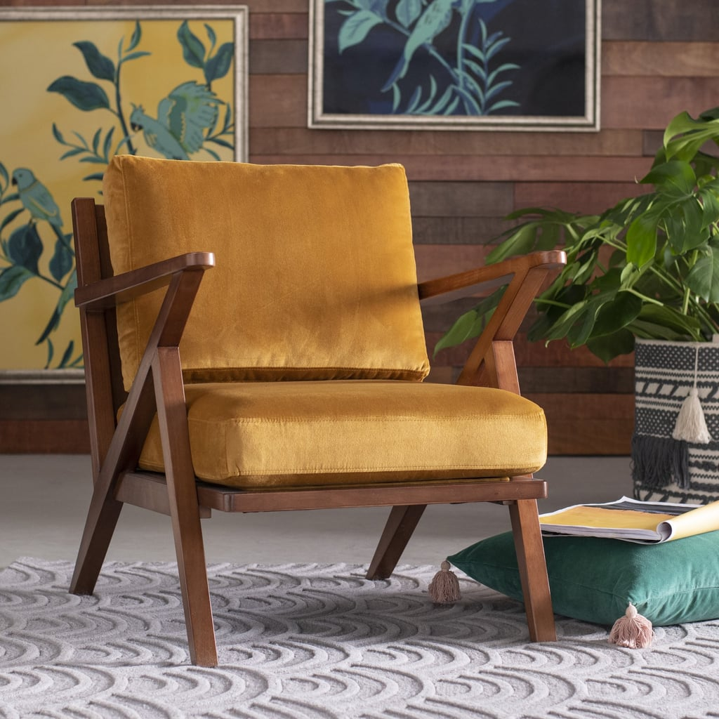 Picture of: Drew Barrymore Flower Home Velvet Mid Century Accent Chair Best Furniture At Walmart Popsugar Home Uk Photo 32