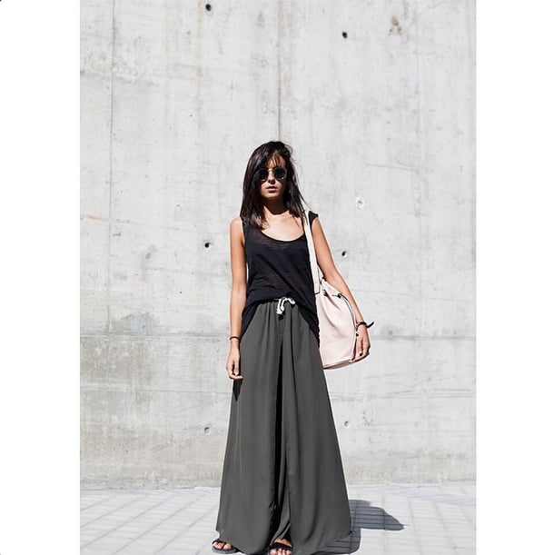This one's for the ultimate lazy girl. With the return of sliders, palazzo pants and maxi skirts have never looked so sporty and functional. Source: Instagram user lucitisima
