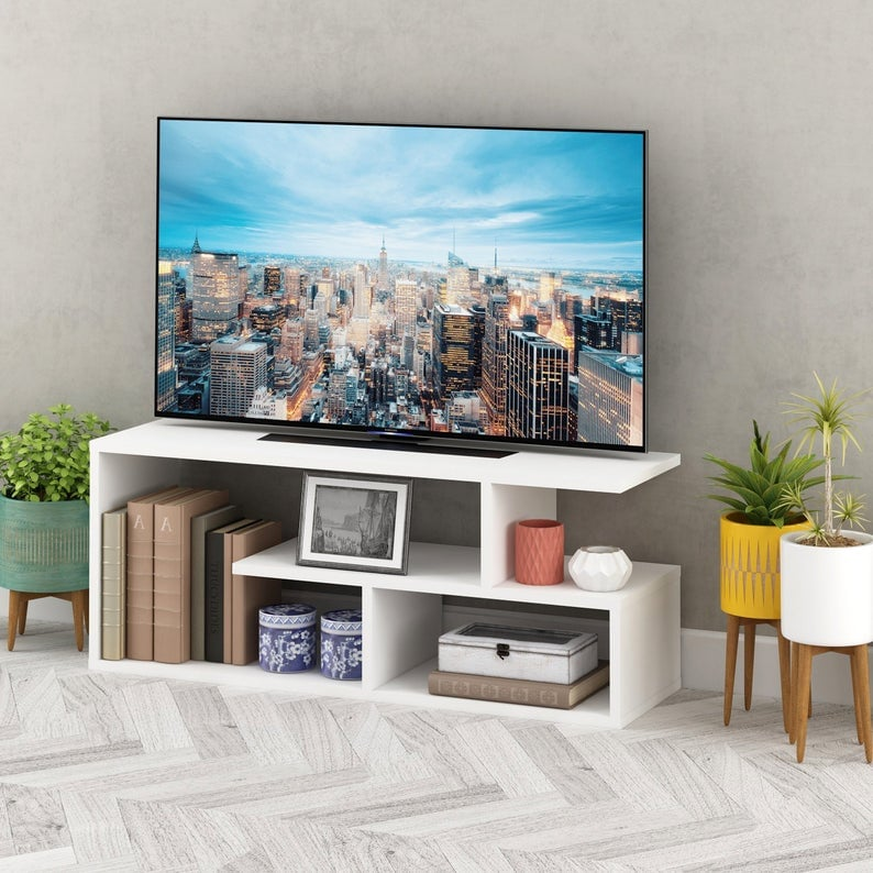 Asymmetric Style TV Stand