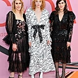 Laura Mulleavy, Lily Nova, and Kate Mulleavy at the 2019 CFDA Awards