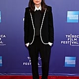 Ellen Page wore Saint Laurent at the Tribeca Film Festival talk for her movie Beyond: Two Souls.