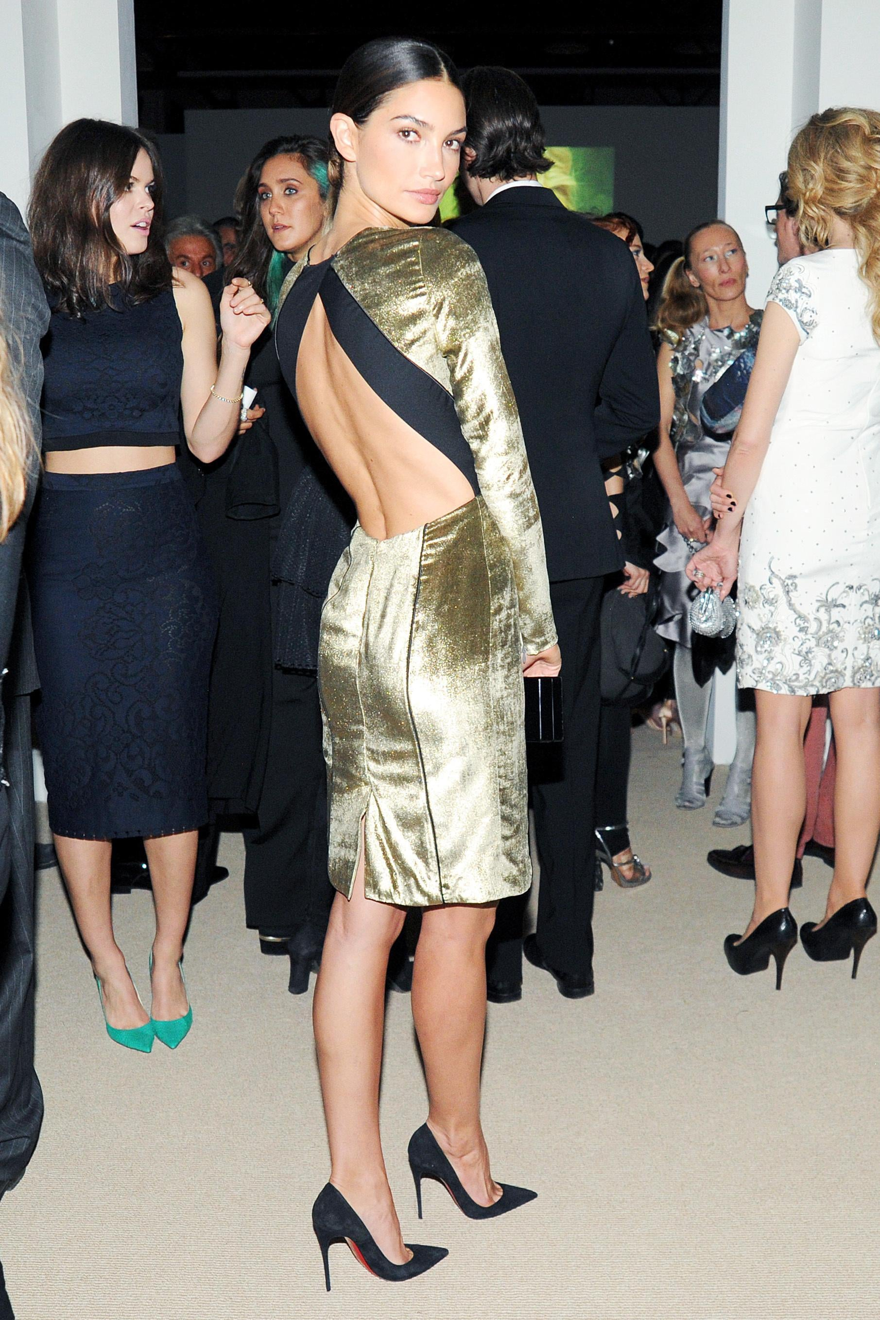 Lily Aldridge in Veronica Beard at the CFDA/Vogue Fashion Fund Awards.