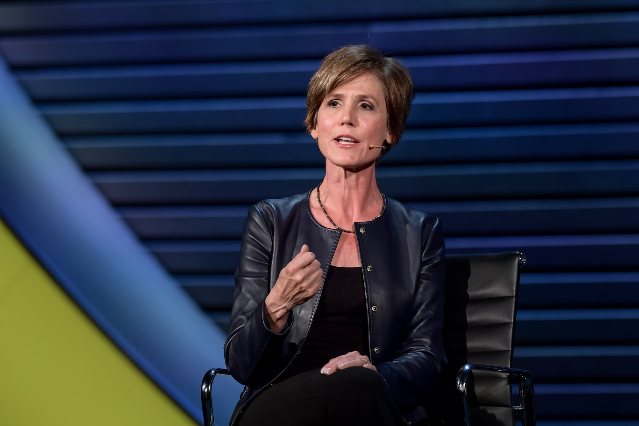 Sally Yates, Distinguished Visitor from Government, Georgetown University Law School; Former Deputy Attorney General on 'THE WOMAN WHO DIDN'T BACK DOWN' at The 2018 Women In The World Summit in New York City; 4/13/2018