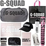 G-Squad Showbag ($26) Includes:  Sports bag  Cosmetic case  Workout diary
