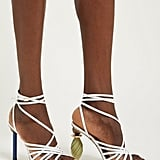 Jacquemus Pisa Mismatched-Heel Suede Sandals