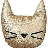 The Emily & Meritt Sequin Cat Pillow, Gold