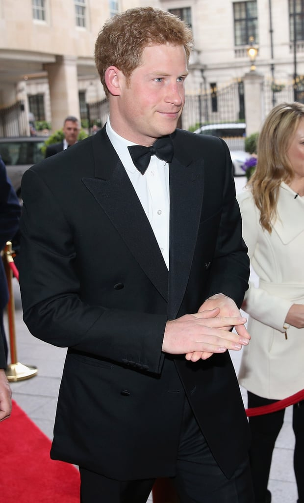 Prince Harry walked the red carpet to the event.