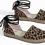 Clare V. Leopard Heritage Katalina Espadrilles