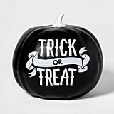 Trick-or-Treat Painted Halloween Pumpkin