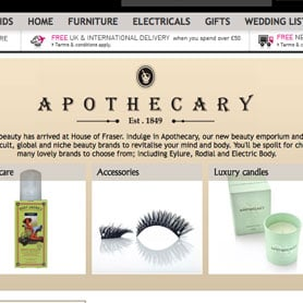 House of Fraser Launches Apothecary