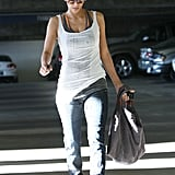Halle Berry carried an oversized bag.