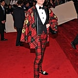 Hamish Bowles in Alexander McQueen and custom Christian Louboutin