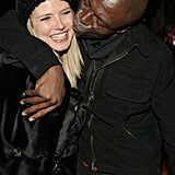 Heidi gets a kiss on the cheek from Seal at the Aspen Peak Annual New Year's Eve Party ushering in 2007.