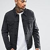 ASOS Denim Jacket in Washed Black ($56)