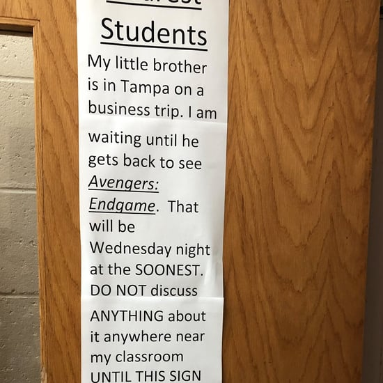 Teacher's Note to Students About Avengers Spoilers