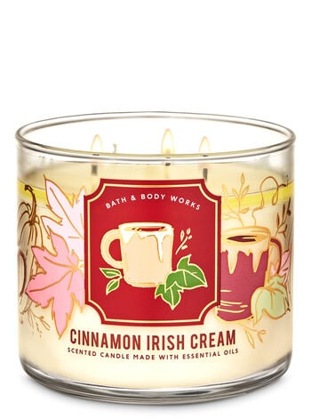 Bath & Body Works Cinnamon Irish Cream 3-Wick Candle