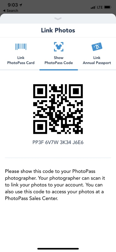 Screenshot the code on your phone.