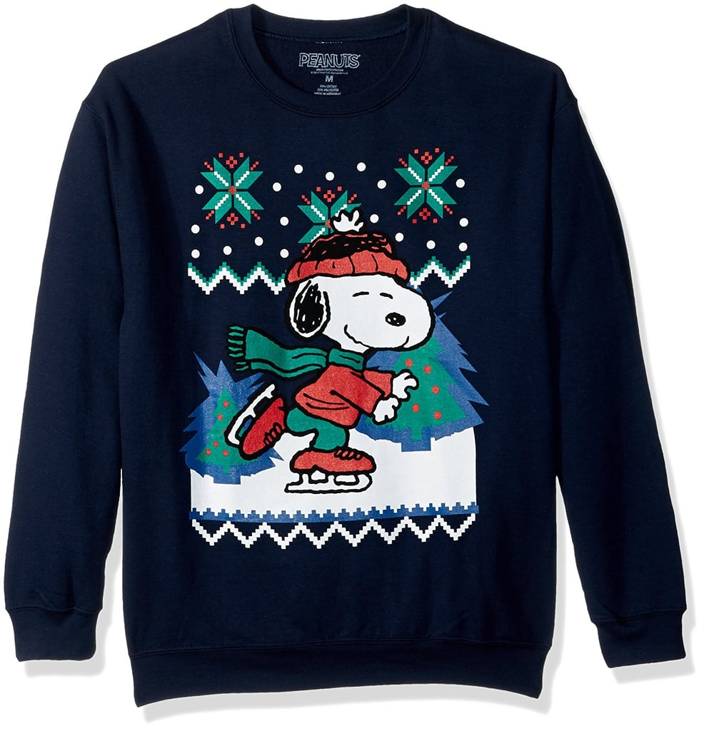 Peanuts Snoopy Skating Holiday Pullover