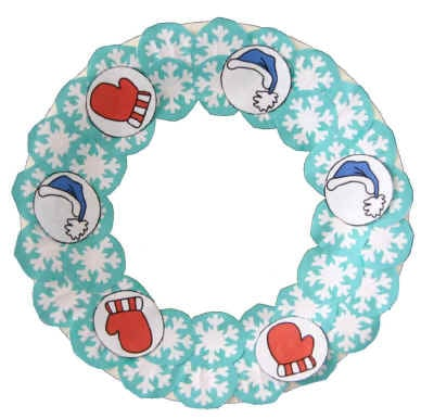 Paper Plate Winter Wreath