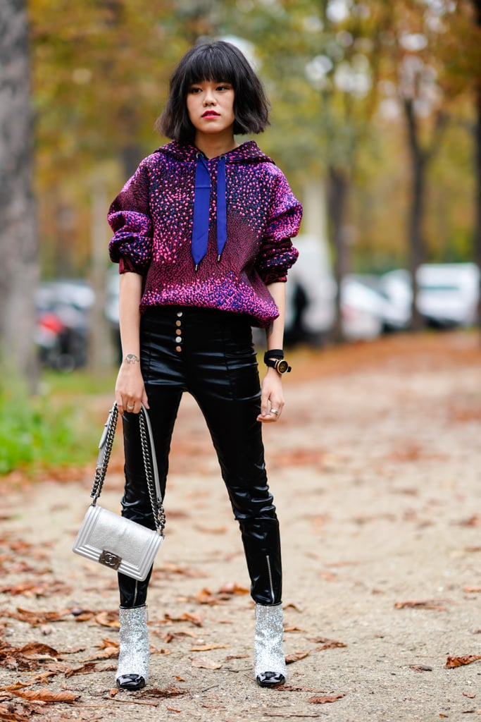 Invest in a Shorter Style and Tuck In Your Leather Pants For Polish