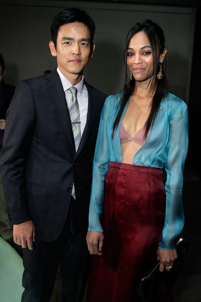 John Cho and actress Zoe Saldana