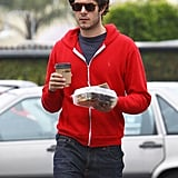 Adam Brody ordered lunch to go on Thursday in LA.