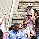 Jennifer Lopez snapped a picture of Casper Smart and Max Anthony.