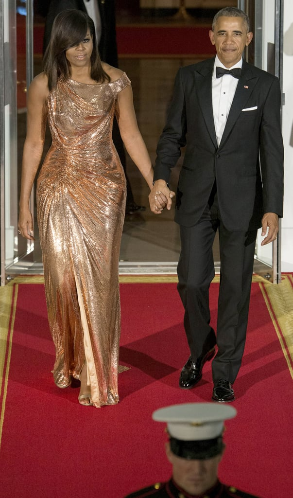 Michelle Obama Wore Versace to the Final State Dinner