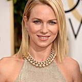 Naomi Watts was the epitome of California cool with fresh blonde locks and rosy cheeks.