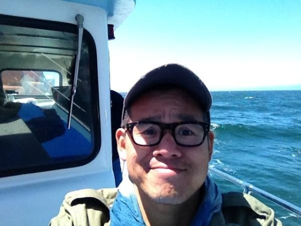 Peter Som went whale-watching. Source: Twitter user Peter_Som